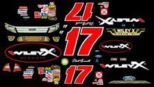 #17 Matt Kenseth WILEY X  Ford Fusion 2011 1/64th HO Scale Slot Car Decals