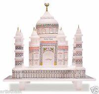 6 Inch Alabaster Miniature Colorful Taj Mahal Replica Indian Art Love Gift Decor