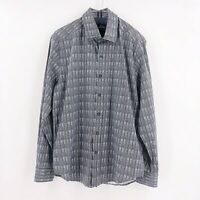 Robert Graham Mens Size Large Tailored Fit  Long Sleeve Button Down Shirt