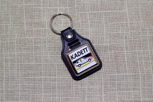Opel Kadett E Keyring - Leatherette & Chrome Keyfob