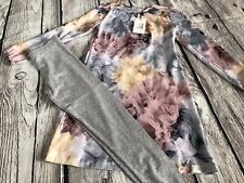 Molo Ceria Bella Bella Floral Dress 9/10, Gray Leggings 8 Set 128 134 140 Winter