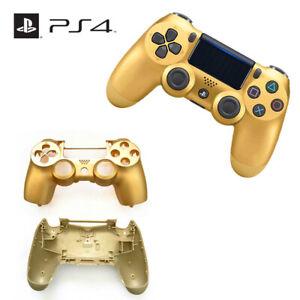Playstation 4 PS4 V2 JDM-055 Controller Full Housing Shell Mod Kit - Gold