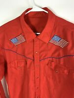 Vtg Men's Western Shirts Pearl Snap Embroidered Rockabilly Long Sleeve Size XL