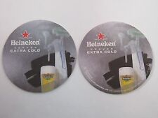 2011 BEER Bar COASTER ~*~ HEINEKEN Brewing Served Extra Cold ~ See STORE 4 More!