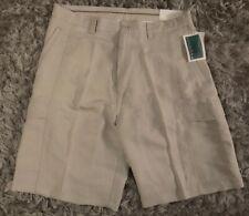 $55 Cubavera Beige Linen Blend Mens Summer Shorts Sz 36