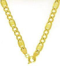 Edle Damen & Herren Halskette Panzer Kette mit Plättchen 585 Gold 14 Kt 45 cm