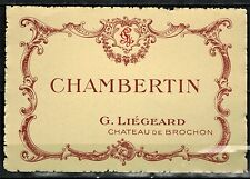Etiquette Vin de Bourgogne-Chromo-Chambertin-Château De Brochon - Réf.n°165