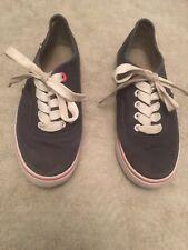Womens VOI Flat Shoe UK 5 Blue, Pink Stripe Silver Logo (B17)