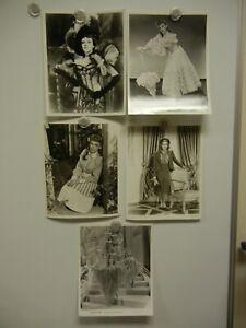 Lot of 5 Judy Garland Studio Portrait Stills MINT