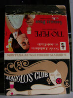Rare Vintage Matchbook Cover Manolo's Club Sexy Art Females Madrid Spain Pepe