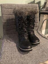 SOREL Black Snow Winter Boots Waterproof Tall Women's 8 -EUC