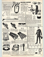 1972 PAPER AD Voit Skin Diving Equipment Suits Willie Mays Personal Model Glove