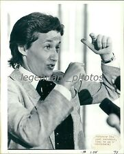 1986 Astronaut Mary Cleave with Hands Up Original News Service Photo