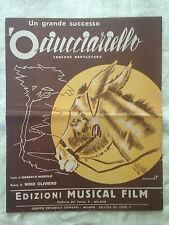Spartito - O' Ciucciariello - Nino Oliviero - Musica Napoletana - 1952