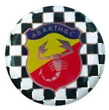 Adesivo Stemma Abarth Resinato 3D Ø 40 mm FIAT 500 126 127 Punto Epoca