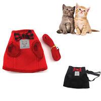 Mesh Pet Cat Harness Blei Set Welpen Hund Kätzchen Leine Weste Kleidung
