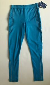 New WITHOUT WALLS Men Blue Compression Legging Jogger Running Tight  L Free Ship