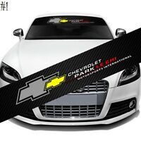 "Chevrolet Car Window Windshield Carbon Fiber Vinyl Banner Decal Sticker 51"""
