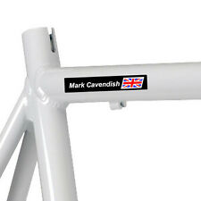 4x PRO Personalised Road Bike Cycling Frame Helmet GB Flag Name Decals Stickers