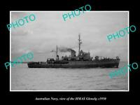 OLD 8x6 HISTORIC PHOTO OF AUSTRALIAN NAVY SHIP HMAS GLENELG c1950