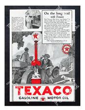 Historic Texaco Gasoline Products Advertising Postcard