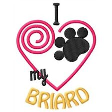 I Heart My Briard Ladies Short-Sleeved T-Shirt 1290-2 Size S - Xxl
