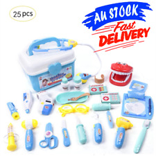 Pretend Kids Doctor Nurse Medical Case Role Play Set Gift Toy Educational 25pcs