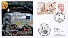 "VA222L-T1 FDC KOUROU ""Fusée ARIANE 5 ECA Vol 222 / Sat. SICRAL 2 & THOR 7"" 2015"
