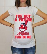 Cleveland Indians Shirt Baby Shower Baseball Maternity Shirt Pregnancy T-shirt