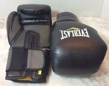 Everlast ProTex2 Boxing Gloves 14 Ounce Training Foam Ever Cool EUC Black
