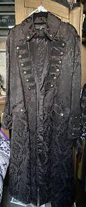 Dark Star Steampunk Brocade Gothic Coat Size XL