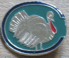 Russian CARTOON HERO Pin Buttons Badge Turkey Kid Bird Metal Old Children VTG Zo