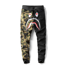 BAPE A Bathing Ape Shark Head Camo Sweatpants Men's Casual Jogging Long Pants