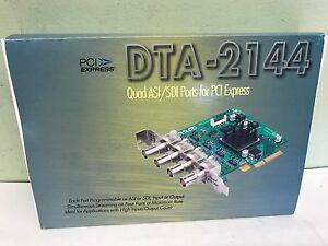 New DekTec DTA-2144-SXP  -   Quad ASI/SDI Input/Output adapter for PCI Express