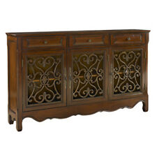 246-335 Hall Table Sofa Walnut Furniture Console Foyer Scroll Powell Cabinet