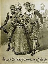 Football Players in FASHION AD Odyssey of Homer Quote 1896 Advertising Matted