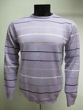 GANT suéter de hombre algodón cuello redondo 81210 col. lila de rayas tg.2XL