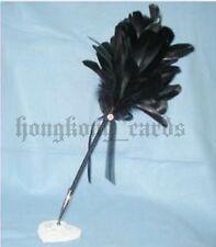 =New Black Wedding Feather Pen Guest Book Quill Pen Box Set Register Goose Sign