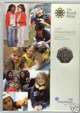 2010 GIRL GUIDING UNCIRCULATED 50 PENCE SEALED COIN PACK