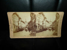 Antique Stereoview ~ PRINCIPAL STREET IN BERN SWITZERLAND ~ J F JARVIS 1889