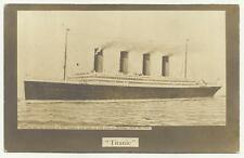 More details for  white star ss titanic. she ran into an iceberg.