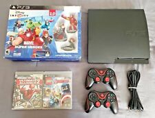 PlayStation 3 Slim 160GB Console + 3 Avengers Games PS3 Bundle LOT Spider-Man