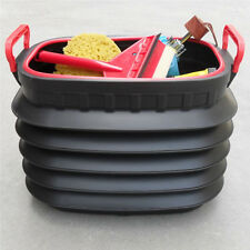 60L New Car Dust Bin Storage Bucket Trash Can Container  Garbage Box Foldable