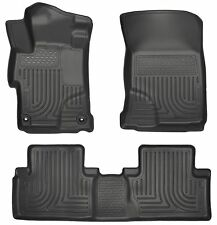Husky Liners WeatherBeater Floor Mats - 3pc- 99441- Honda Civic 2014-2015- Black