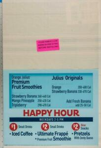 Dairy Queen Poster Backlit Plastic Orange Julius Happy Hour Smoothies 17x25 dq2