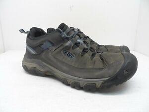 Keen Mens TARGHEE III WATERPROOF Hiking Trail Shoe STEEL GREY/CAPTAIN'S BLUE 9M