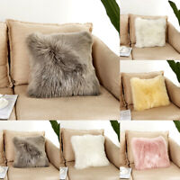 Fluffy Plush Cushion Cover Luxury Pillowcases Sofa Throw Cushions Cover Pillow *