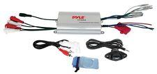 NEW Pyle PLMRMP3A 800W 4Ch Marine Waterproof iPod/MP3 Amplifier + Volume Remote