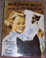 Benjamin West and His Cat Grimalkin ~1947 Signed Marguerite Henry/ Wesley Dennis