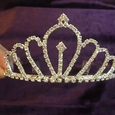 (111218)New Crystal Crown Tiara Jewelry Headband Wedding Party Accessories